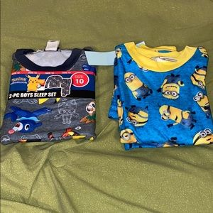 Pokémon and minions Pjs Size (8) and (10) To sets